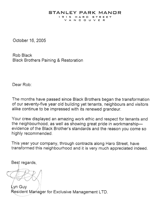 black brothers testimonial