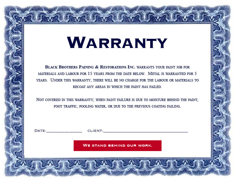 black brothers warranty